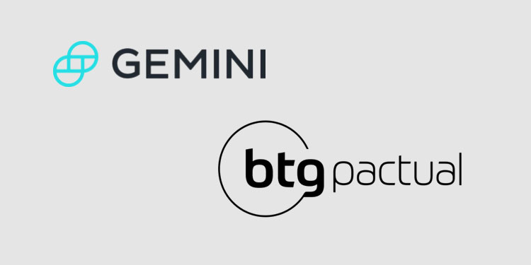 Gemini provide custody for Brazilian investment bank's bitcoin fund