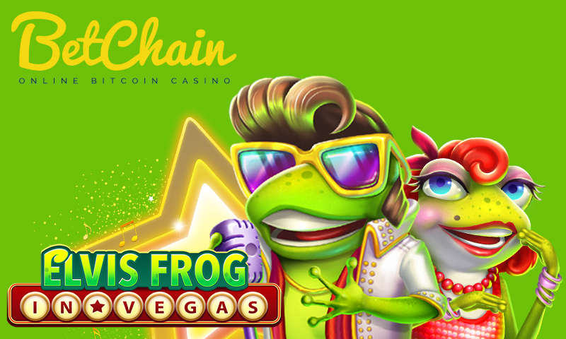 Free Spins With Elvis Frog in Vegas: a New Slot on BetChain
