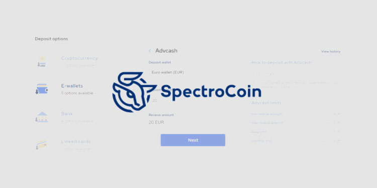 Crypto exchange and payment platform SpectroCoin adds Advcash transfers