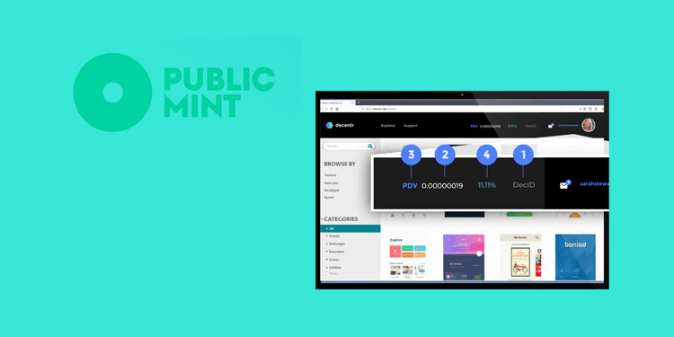 Public Mint to power crypto payments for the Decentr Web3 browser